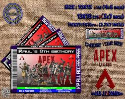 Apex Legends Personalized Birthday Vip Invitation Birthday