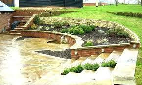 patio backyard ideas captivating sloped