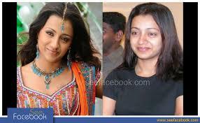 see facebook actress trisha without makeup