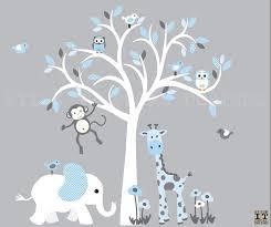 Boy Room Nursery Wall Decor Safari Wall Art Tree Decal Etsy