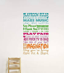 Amazon Com Playroom Rules Wall Decals Childrens Wall Decals For Playroom Childrens Room Decor Handmade