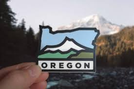 Oregon Vinyl Sticker Vinyl Decal Oregon Decal Outdoor Etsy