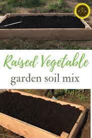 building raised garden beds soil mix