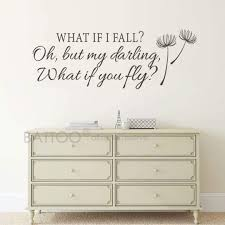 Amazon Com Battoo What If I Fall Oh My Darling What If You Fly Wall Decal Quote Inspirational Quote Bedroom Decor Nursery Wall Decal For Girls Room Decor Black 22 Wx8 H Home