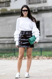 how to wear mini skirts to work