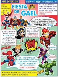 Invitacion Digital Plantilla Super Heroes Editable 90 00 En Mercado Libre