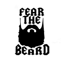 15 15cm Cartoon Art Humor Lettering Fear The Beard Funny Art Car Sticker Suv Canoe Waterproof Vinyl Decal Car Stickers Aliexpress