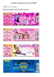 Tarjeta Invitacion Ticket Real Madrid Futbol Imprimible 150 00