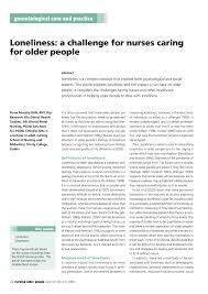 a challenge for nurses caring for older