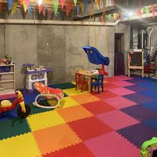 Basement Playroom Flooring Features Best Playmats For Kids