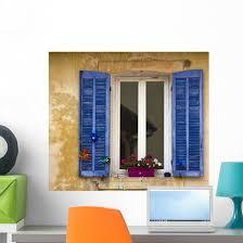 Window With Shutters Cassis France Wall Decal Wallmonkeys Com