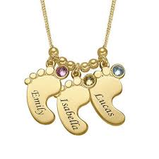 necklace baby feet charm
