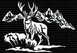 Hunting Fishing Window Decals In White Or Camouflage At Woods Outdoors