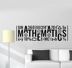 Vinyl Wall Decal School Inscription Mathematics Math Classroom Sticker Wallstickers4you