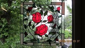 colorful stained glass window rose