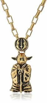 star wars yoda pendant gold with 24
