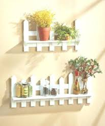 Wooden Fence Shelves White Natural Traditional Picket Fence Wall Decor Home Decor Design Wall Decor Design Decorating Shelves Decor