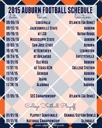 Auburn Football Schedule 2015
