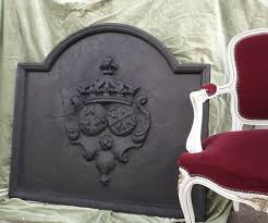 large antique fireplace plate in cast