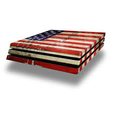 Wraptorskinz Ps4 Pro Skin Wrap Painted Faded And Cracked Usa American Flag Decal Style Skin Fits Sony Playstation 4 Pro Console Walmart Com Walmart Com