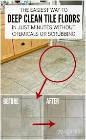 best way to deep clean tile floors