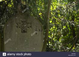 Old graves on the cemetery, in Abney Park, London, UK Stock Photo - Alamy
