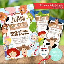 Kit Imprimible Toy Story 4 Tarjeta Decoracion Etiquetas Candy
