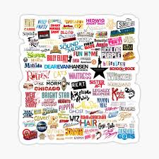 Broadway Musicals Stickers Redbubble