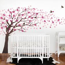 Cherry Blossom Tree Wall Decal For Nursery Princess Girl Bedroom Wall Tattoo Large Tree With Flowers Wall Stickers A396 Tree Wall Decal Wall Decalsblossom Tree Aliexpress