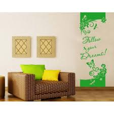 Follow Your Dreams Wall Decal Floral Decorative Strip Wall Decal Sticker Mural Vinyl Art Home Decor Quotes And Sayings 4039 Pink 12in X 32in Walmart Com Walmart Com