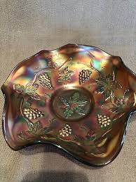 g antique carnival glass bowl