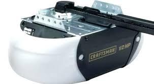 craftsman 1 2 hp garage door opener