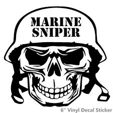 Usmc Skull Sniper Funny Vinyl Decal Sticker Car Window Laptop Tablet Truck Wish