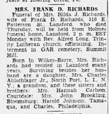 RICHARDS, Hilda JOHNSON obit July 1946 - Newspapers.com