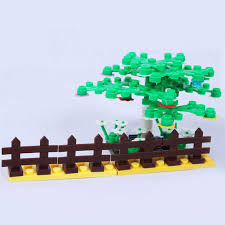 100pcs Garden City Diy Brick Parts Fence Block City Bush Trees Plants Compatible With Legoeings Block Part Children Toys Gifts Bricks Parts Block Citycompatible With Lego Aliexpress
