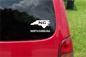 North Carolina Nc State Usa Outline Map Sticker Decal 20 Colors To Cho Customvinyldecals