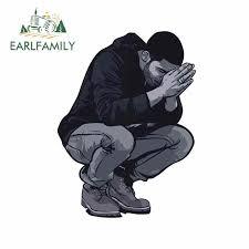 Earlfamily 13cm X 9 7cm For Drake Pray Hands God Custom Car Sticker Vinyl Occlusion Scratch The Whole Body Waterproof Decal Car Stickers Aliexpress
