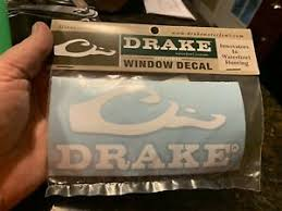Drake Waterfowl Systems Die Cut Logo Decal Window Sticker 5 X 2 5 New White Ebay
