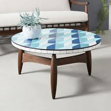 mosaic tiled outdoor coffee table 3d