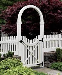 Chestnut Hill Picket With Single Arch And Gate Wood Solid Cellular Pvc Metal And Hollow Vinyl Fences From Walpole Outdoors