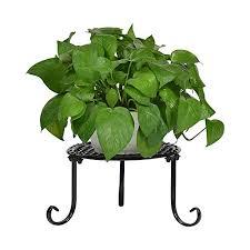 display stands metal round flower pot