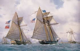 wallpaper wave the wind oil ships