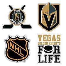 Set Of 4 Vegas Golden Knights Hockey Sticker Decals 5 Longer Side Id 3 In 2020 Golden Knights Hockey Golden Knights Vegas Golden Knights