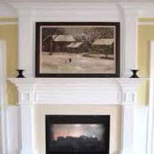 flat screen above fireplace option