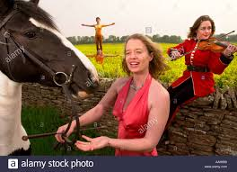 NELL GIFFORD LEFT OF GIFFORDS CIRCUS WITH MUSICIAN CARMEN SMITH ...