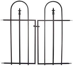 Amazon Com Panacea 87501 Black Triple Arch Garden Gate 37 W X 33 5 H Garden Outdoor