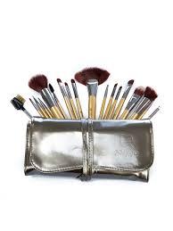 horse hair makeup brush sets 18 pcs