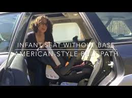 an infant car seat without its base