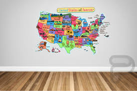 Usa Map Wall Decal United States Wall Decal Classroom Wall Decal Nursery Wall Decor Kids Wall Dec Map Wall Decal Usa Map Wall Decal Nursery Wall Decals