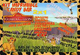 Kit Imprimible Candy Bar La Guardia De Leon 2x1 68 00 En